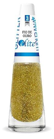Esmalte Ludurana Gliter fio de ouro- 6 unidades