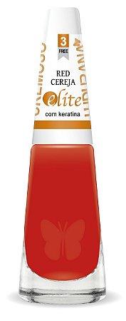 Esmalte Ludurana Red Cereja vermelho - 6 unidades