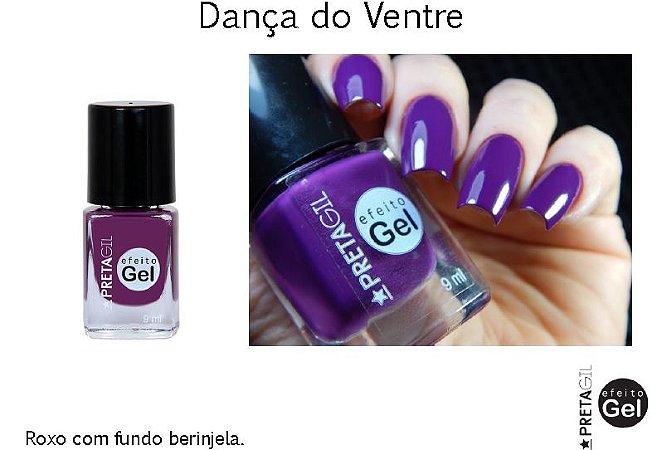 Esmalte Preta Gil Efeito Gel Dança do Ventre - 6 unidades