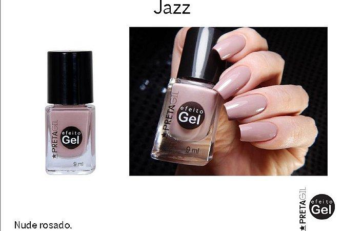 Esmalte Preta Gil Efeito Gel Jazz - 6 unidades