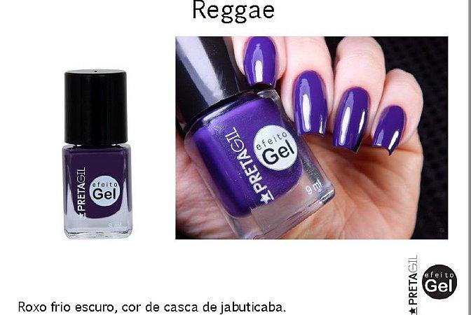Esmalte Preta Gil Efeito Gel Reggae - 6 unidades