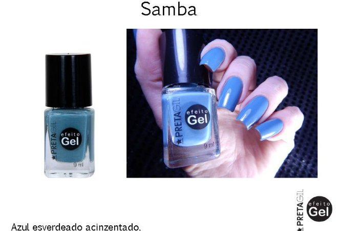 Esmalte Preta Gil Efeito Gel Samba- 6 unidades
