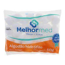 Algodão Hidrófilo 50g Melhor Med - 3 unidades