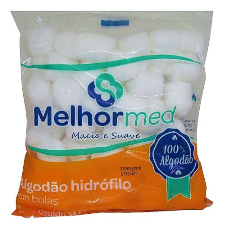 Algodão Hidrófilo 100g Melhor Med - 3 unidades