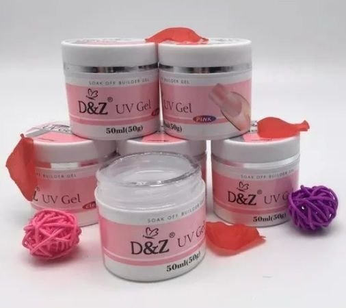 Gel DeZ clear e pink 50 ml - 3 unidades