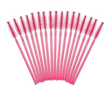 Escovinha para Cílios e Sobrancelhas com 50 Pincéis - 3 unidades