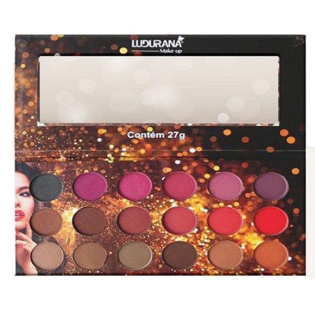 Paleta Ludurana Tons de Nude 18 cores - 3 unidades
