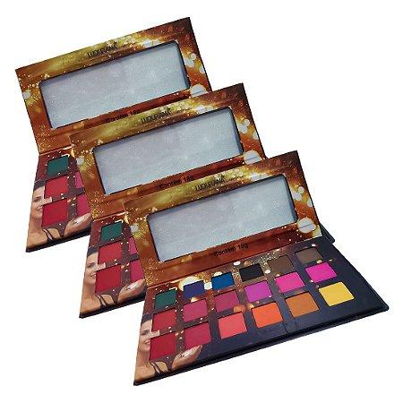 Paleta de cores quadrada 18 cores - 3 unidades