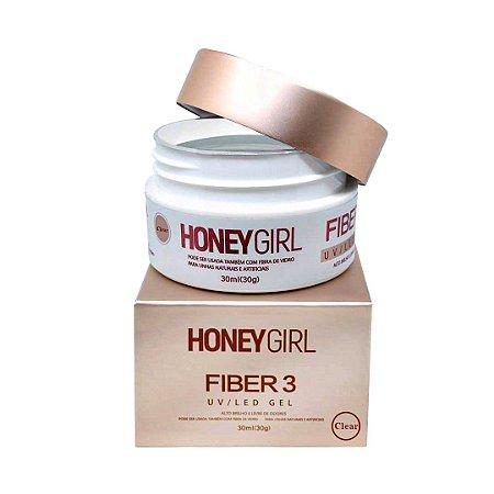 Honey Girl Gel Fiber 3 Clear T3 Construção De Unhas 30g - 3 Unidades