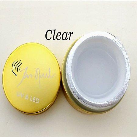 Gel fan nails Clear - 3 unidades