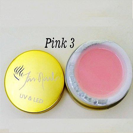 Gel fan nails Pink 3 - 3 unidades