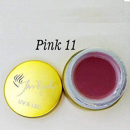 Gel fan nails Pink 11 - 3 unidades