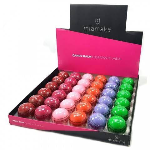 Kit Com 6 Candy Balm Hidratante Labial Colorido - 3 unidades