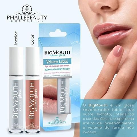 3 big mouth volume labial  incolor Phállebeauty , unidade sai 8 reais