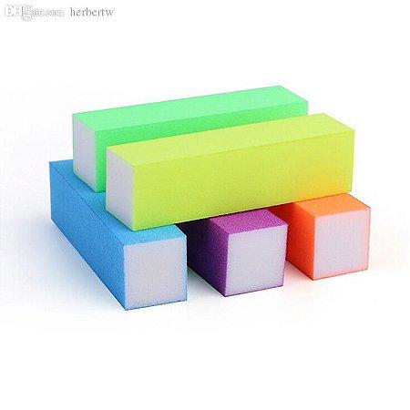 Lixa Bloco Polidora Colorida - 3 unidades
