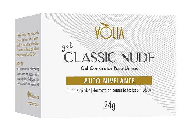 Vólia Gel Classic Nude O Gel Nude que Dispensa Misturinhas Original 24g - 3 Unidades