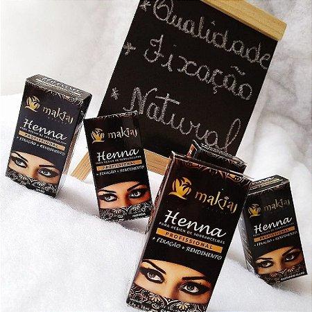 Henna para sobrancelha Makiaj castanho medio - 3 unidades