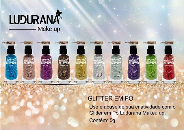 Glitter Ludurana Prata– 3 unidades
