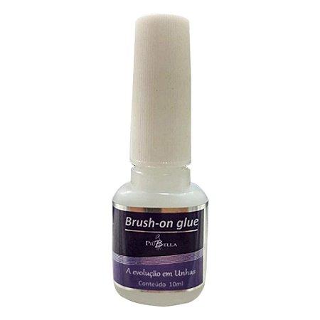 Cola para Unhas Postiças com Pincel Brush On Glue Piu Bella 10ml - 3 unidades