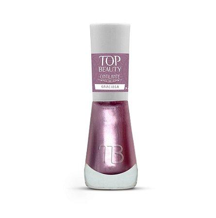 Esmalte Premium Cintilante Top Beauty 9ml Graciosa - 6 Unidades