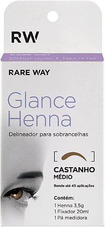 Henna Glance Castanho Médio - 3 unidades - Atacado