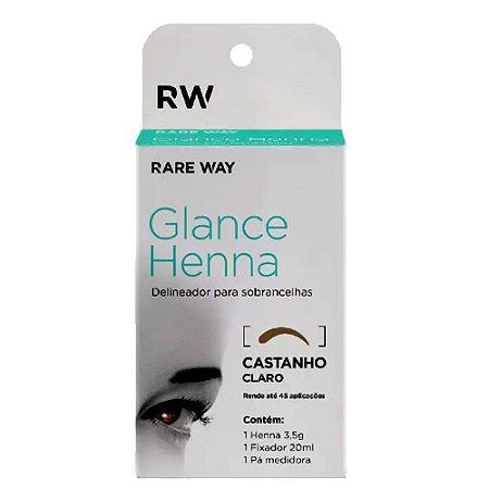 Henna Para Sobrancelhas Glance (Castanho Claro) - Rare Way - 3 Unidades