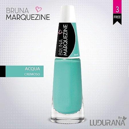 Esmalte Bruna Marquezine Cremoso Aqua - Caixa com 6 unidades