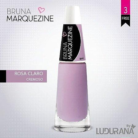 Esmalte Bruna Marquezine Cremoso Rosa Claro - Caixa com 6 unidades