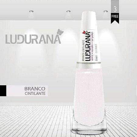 Esmalte ludurana 3 free Branco Cintilante - Caixa com 6 unidades