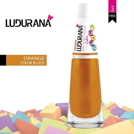 Esmalte ludurana 3 free Color Blok Orange - Caixa com 6 unidades