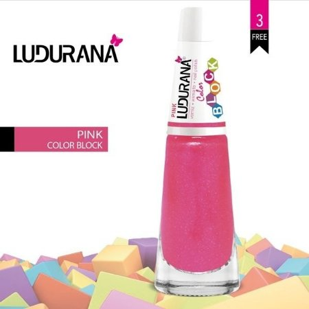 Esmalte ludurana 3 free Color Blok pink - Caixa com 6 unidades