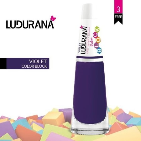 Esmalte ludurana 3 free Color Blok Violet - Caixa com 6 unidades
