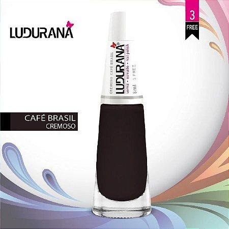 Esmalte ludurana 3 free Cremoso CR Café - Caixa com 6 unidades