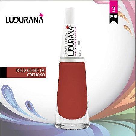 Esmalte ludurana 3 free Cremoso CR Red Cereja - Caixa com 6 unidades
