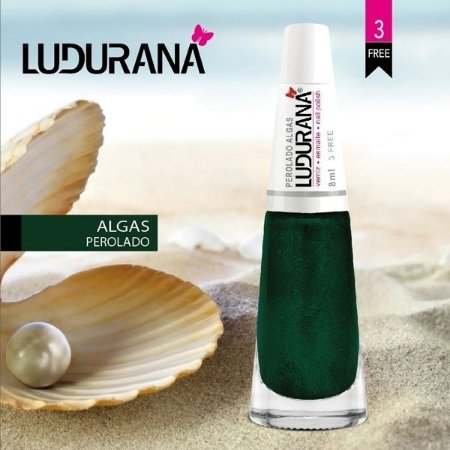 Esmalte Ludurana 3 free Perolado Algas - Caixa com 6 unidades