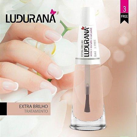 Esmalte Ludurana 3 free Tratamento Extra brilho - Caixa com 6 unidades