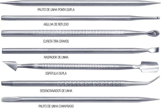 Espatula Dupla Aço Inox Kadoshi - Caixa com 3 unidades
