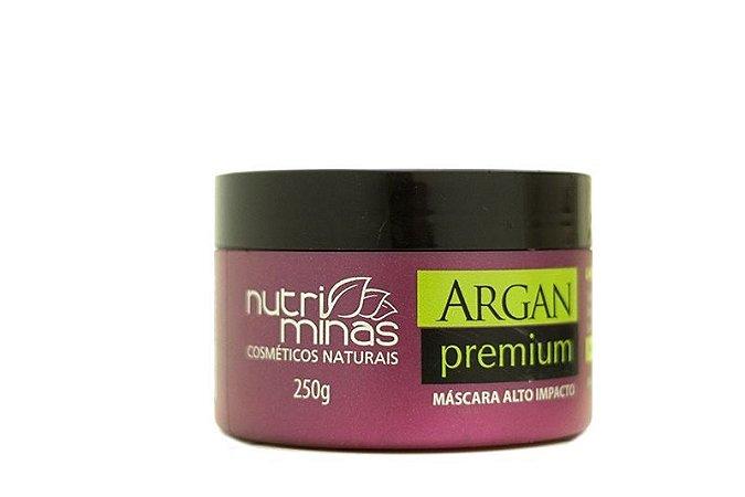 Nutri Minas Argan Premium Máscara Alto Impacto 250ml (Embalagem com 3 Unidades)