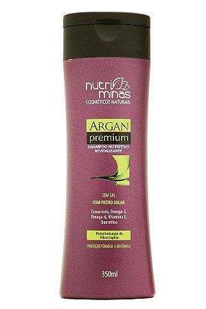 Nutriminas Argan Premium Shampoo 350ml - 3 Unidade.