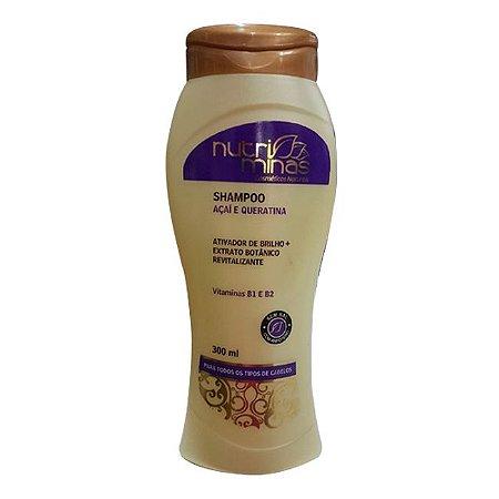 Nutriminas Shampoo Açaí e Queratina 300ml - 3 Unidades