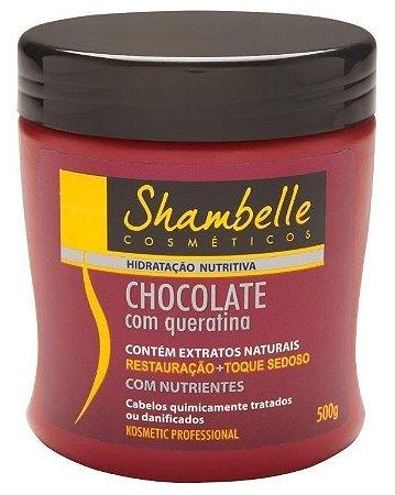 Shambelle Hidratação Nutritiva Chocolate com Queratina 500g - Caixa com 3 unidades