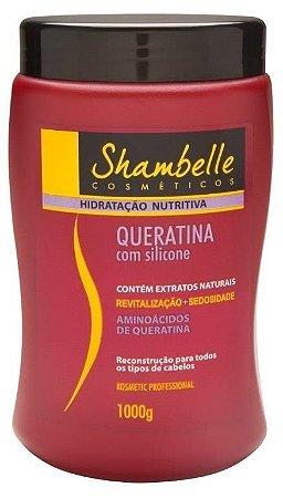Shambelle Hidratação Nutritiva Queratina com Silicone 1000g - Caixa com 3 unidades