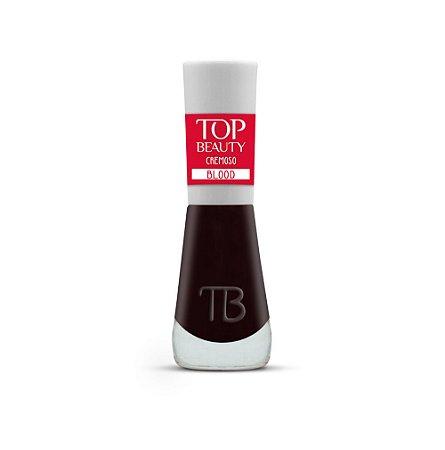 Kit com 6 Esmalte New Top Beauty Cremoso Vegano - Blood