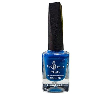 Esmalte Azul Carimbo Piu Bella 10ml - 3 Unidades