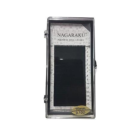 Kit com 3 Cílios Nagaraku Fio a Fio 0.10D 10 mm