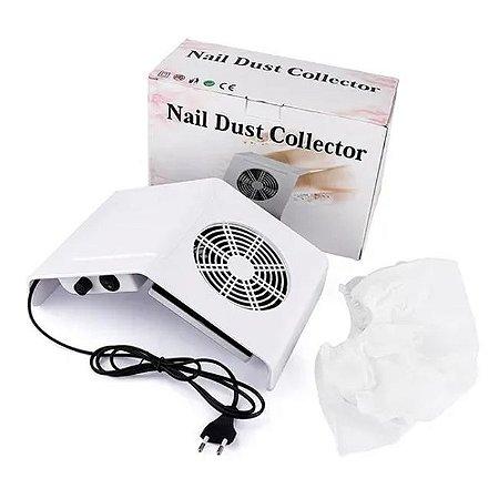 Kit com 3 Coletor De Pó De Unha Nail Dust Collector