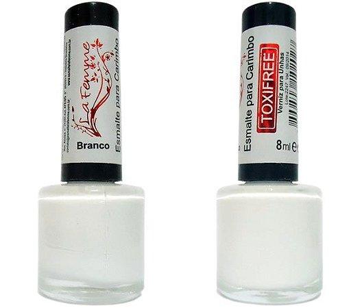 Esmalte LaFemme - Branco - 8ml - Toxi Free - Caixa com 6 unidades
