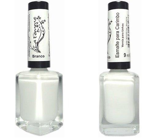 Esmalte LaFemme - Branco - 9ml - Carimbo - Caixa com 6 unidades