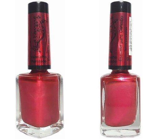 Esmalte LaFemme Vermelho Perolado Carimbo - 6 unidades