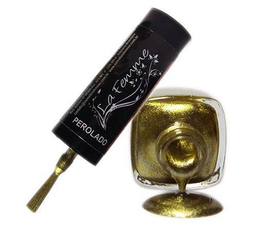 Esmalte LaFemme - Dourado - 9ml - Perolado - Caixa com 6 unidades